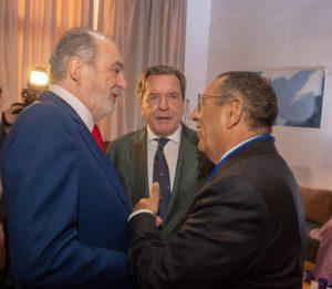 Chancelier Gerhard Schroeder et l'ambassadeur Youssouf Amrani